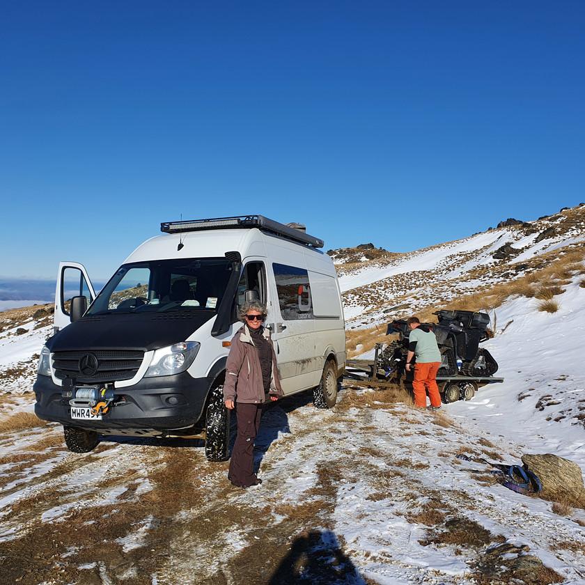 Old Man Range, off snow-kiting