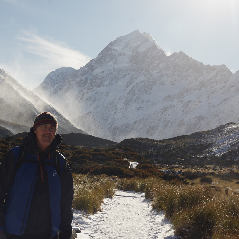 Route to Hooker Lake & Mt Cook