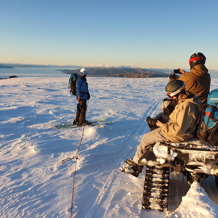 Ski towing