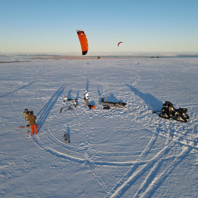 Snow-kite camp