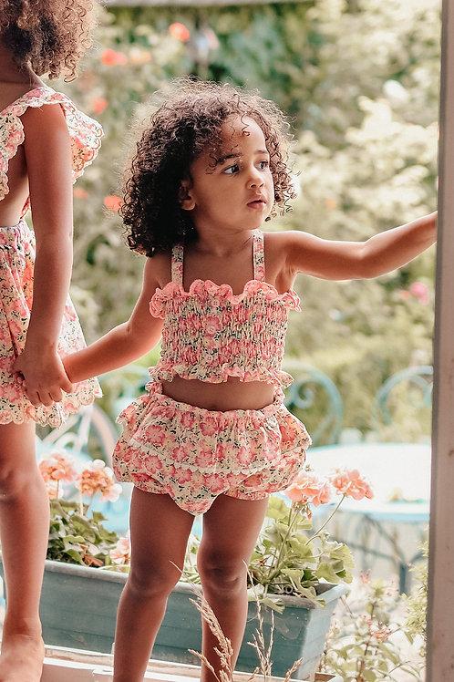 Louise Misha 細肩帶緊身上衣 (粉紅花園) - Malika Pink Meadow Top