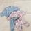 Thumbnail: Tiny Trove 休閒純棉長褲套組 (粉藍) - Romy French Terry Set Powder Blue