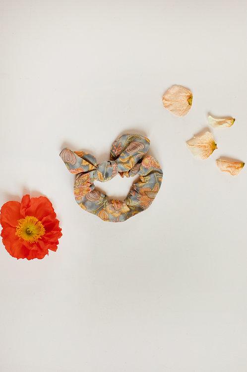Louise Misha 法式髮圈 (灰色加州花) - Kimmi Grey California Flowers Scrunchie