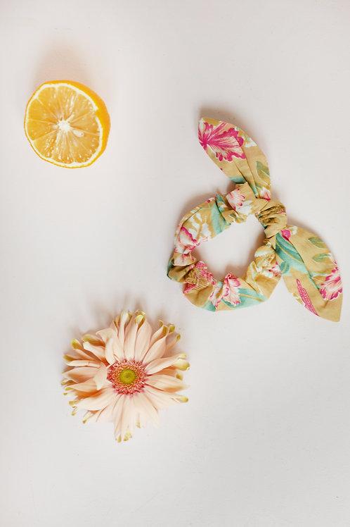 Louise Misha 法式髮圈 (黃色鸚鵡花) - Scrunchie Kimmi Soft Honey Parrots