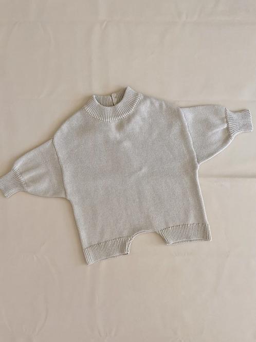 Tiny Trove 針織純棉連身褲 (米色) - Olsen Knit Playsuit Oat