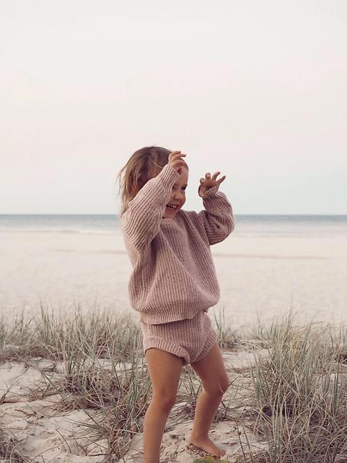 Tiny Trove 純棉毛料短褲套組 (淺粉) - Emmi Sprinkle Knit Set Rose