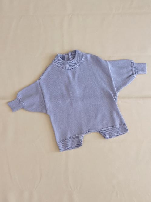 Tiny Trove 針織純棉連身褲 (淡紫) - Olsen Knit Playsuit Lavender