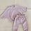 Thumbnail: Tiny Trove 休閒純棉長褲套組 (粉紫) - Romy French Terry Set Powder Pink
