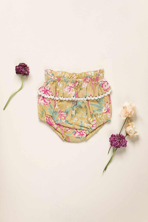 Louise Misha 燈籠包屁褲 (黃色鸚鵡花) - Bloomers Calakmul Soft Honey Parrots