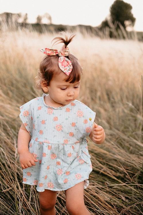 Louise Misha 法式髮圈 (粉紅花園) - Scrunchie Kimmi Pink Meadow
