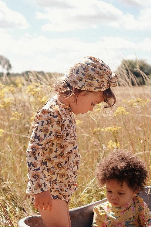 Louise Misha 扭轉頭巾泳帽 (奶油花) - Sylvania Cream Flowers Bathing Turban