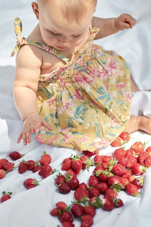 Louise Misha 細肩帶洋裝 (黃色鸚鵡花) - Marceline Soft Honey Parrots Dress