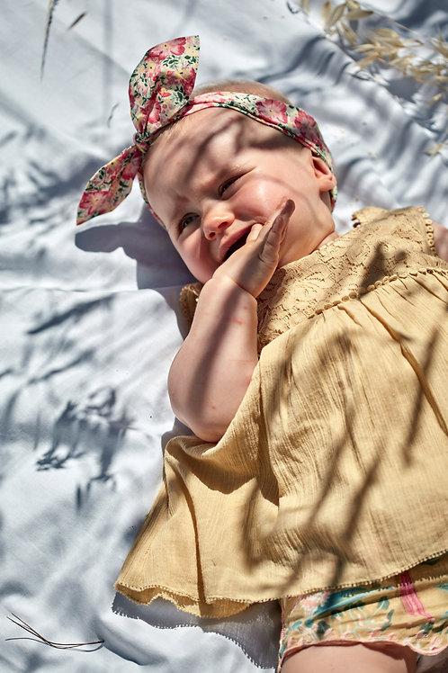 Louise Misha 法式髮帶 (粉紅花園) - Headband Cally Pink Meadow