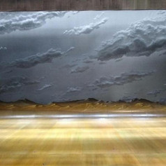 Hartford Stage: Quixote Nuevo, Takeshi Kata desinger, cloud drop