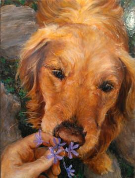Annie Smells a Flower