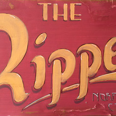 Norfolk(CT) Historical Museum: The Ripper, created scenery and signage for 13' toboggan display