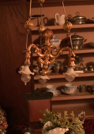 Chandelier in Coffin family dollhouse