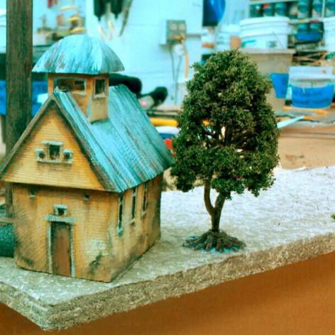 Hartford Stage: Quixote Nuevo, Takashi Kata desinger, small buildings