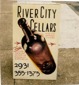 River City Cellars sandwich board sign, Richmond, VA