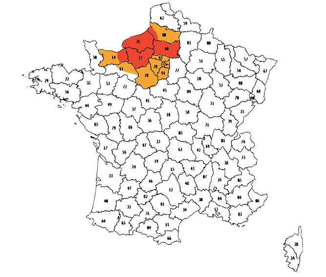 Carte des déplacements