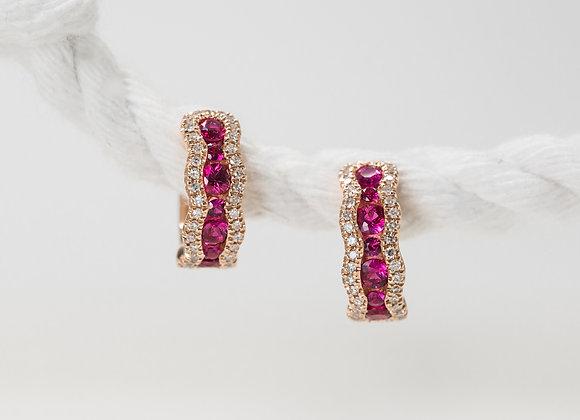 Ruby Rose Huggie Earrings
