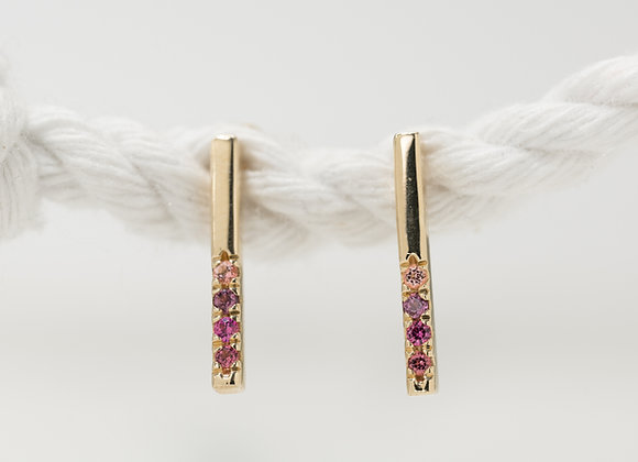 Pink Ombre Earrings
