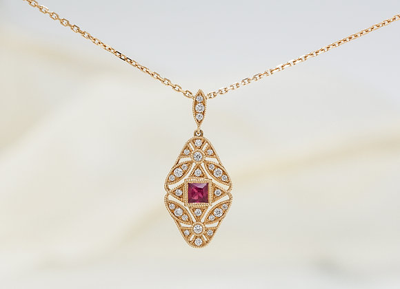 Belle Ruby and Diamond Necklace