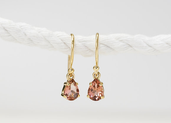 Pink Tourmaline Drops Earrings