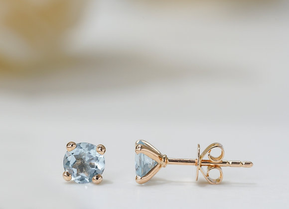 Aquamarine Studs Earrings