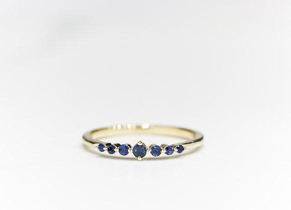Sapphire Stars Ring