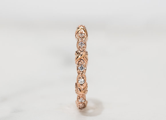 Rose Twist Wedding Band
