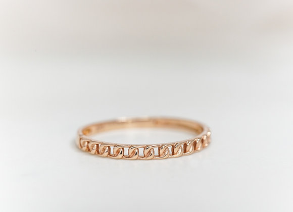Chain Ring in Rose Gold