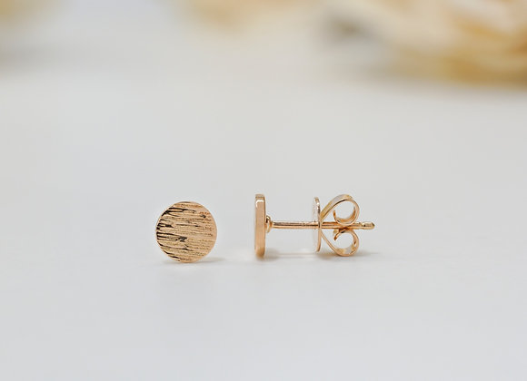 Flat Rose Gold Studs Earrings