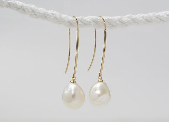 Baroque Long Pearls Drop Earrings