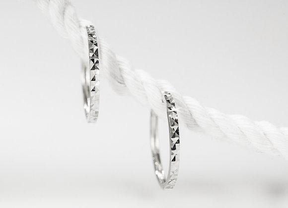 Diamond Pattern Hoops