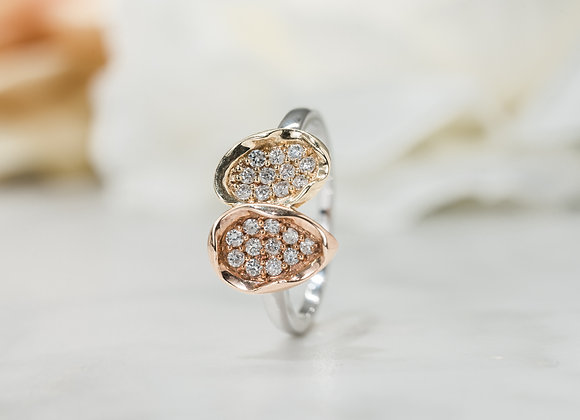 Gold, Rose & White Dreamtime Ring