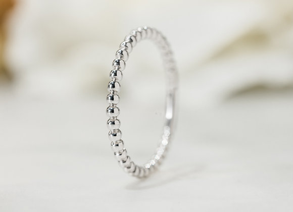 Fine Ball Stacker Ring