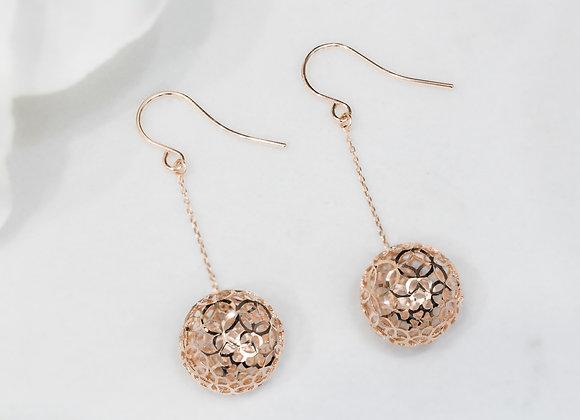 Rose Gold Ball Earrings