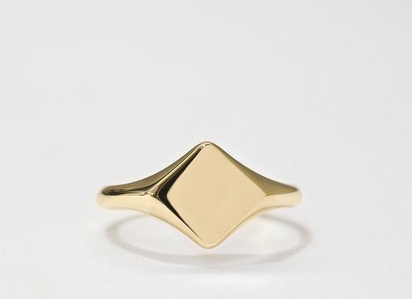 Custom Made Diagonal Square Signet Ring