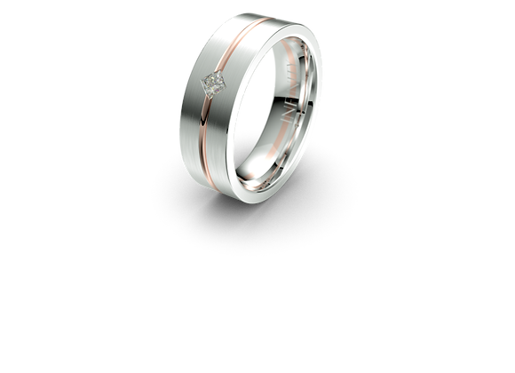 Diamond Arlo Wedding Band