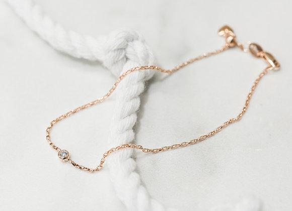 Micheil Signature Birthstone Bracelet - April