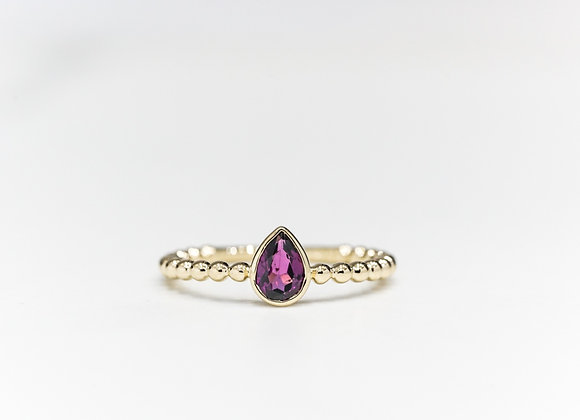 Rhodolite Bubble Ring