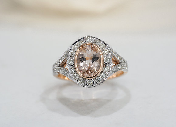 Morganite Queen Ring