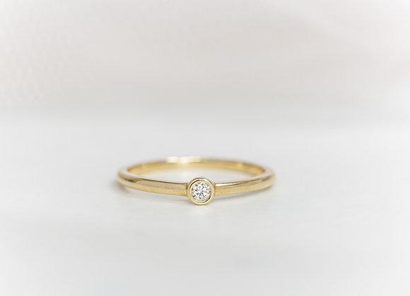 Round Bezel Diamond Ring
