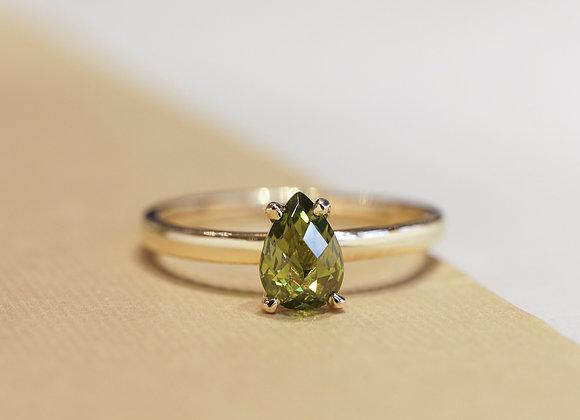 Green Anjou Ring