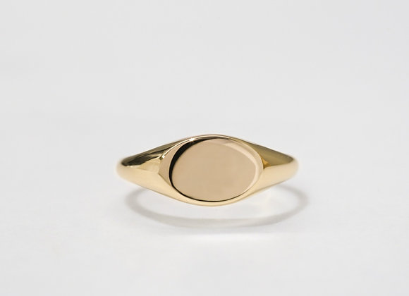 Custom Made Oval Signet Gold Ring