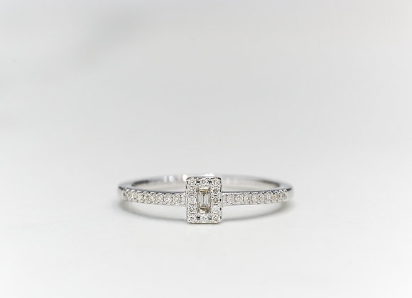 Emerald Halo Diamond Ring