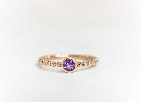 Bubble Amethyst Ring