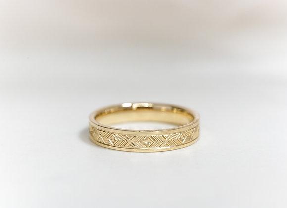 Yellow Gold Pattern Ring