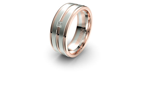 Diamond AVE Wedding Band